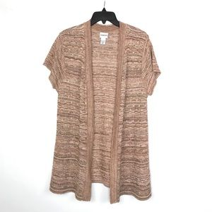 {Chico's} Neutral Pattern Knit Cardigan Sweater